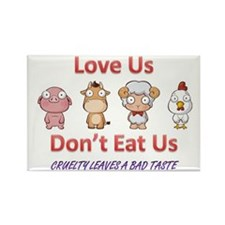 Cute Vegetarian Rectangle Magnet (100 pack)