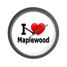 I Love Maplewood Wall Clock