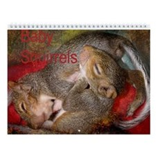 Baby Squirrel Wall Calendar