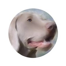 "Alert Weimaraner 3.5"" Button (100 pack)"