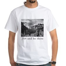 f64 and be there - white tee