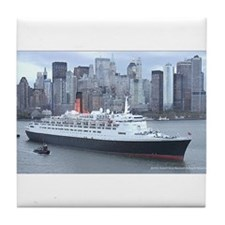 QE2 New York Final Departure Tile Coaster