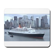 QE2 New York Final Departure Mousepad