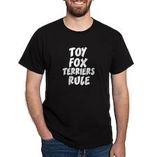 TOY FOX TERRIERS RULE Black T-Shirt