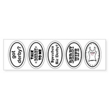 Derby Helmet Stickers 1 Bumper Sticker (10 pk)