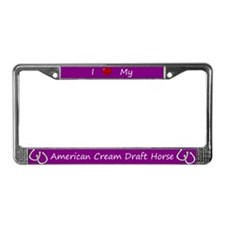 Purple I Love My American Cream Draft Horse Frame
