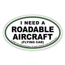 "Roadable Aircraft ""Need"" Decal"