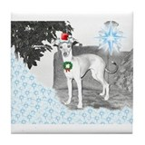 Italian Greyhound Christmas Tile Coaster