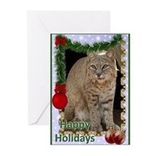 Bobcat Christmas Greeting Cards (Pk of 20)
