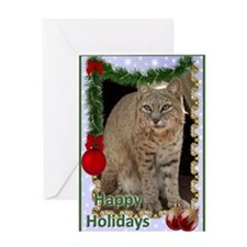 Bobcat Christmas Greeting Card