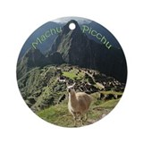 Machu Picchu Ceramic Christmas Ornament