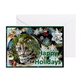 Bengal Cat Christmas Greeting Cards (Pk of 20)