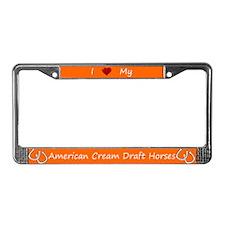 Orange I Love My American Cream Draft Horses