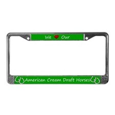 Green We Love Our American Cream Draft Horses