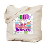 8th Birthday Sleepover Tote Bag