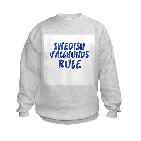SWEDISH VALLHUNDS RULE Kids Sweatshirt