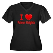 I Love Falcon Heights Women's Plus Size V-Neck Dar