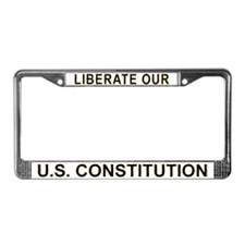 Liberate US Constitution License Plate Frame