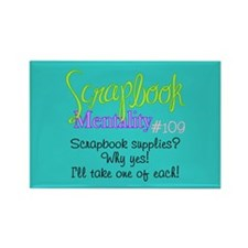Scrapbook Mentality #109 Rectangle Magnet (10 pack
