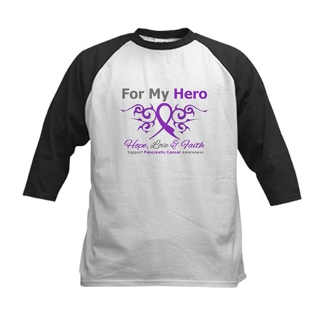 Pancreatic Cancer ForMyHero Kids Baseball Jersey
