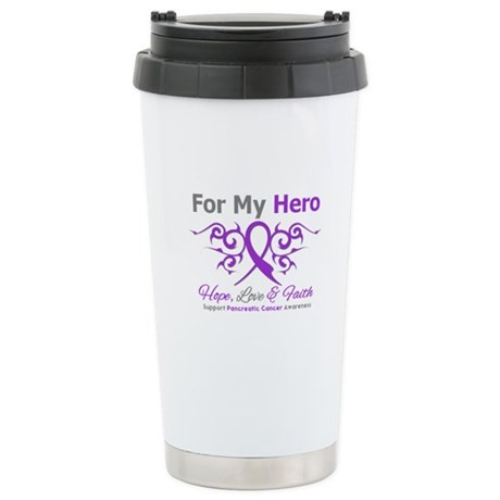 Pancreatic Cancer ForMyHero Ceramic Travel Mug