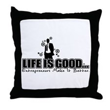 Cute Entrepreneur Throw Pillow