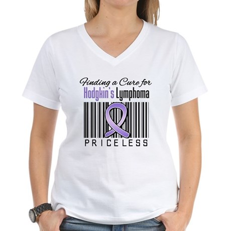 Cure Hodgkin's Disease Women's V-Neck T-Shirt