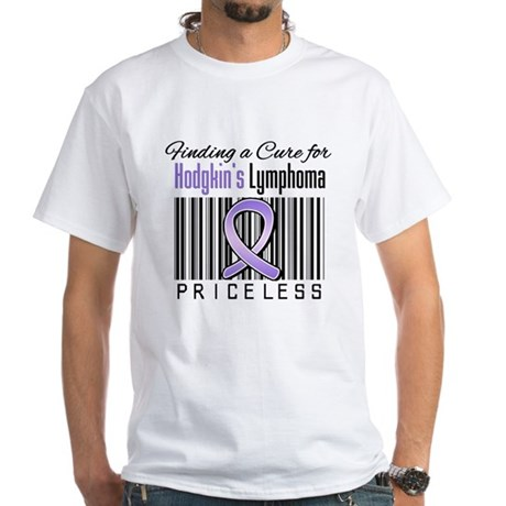 Cure Hodgkin's Disease White T-Shirt