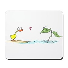 duck and frog in love Mousepad