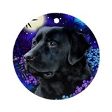 LABRADOR RETRIEVER DOG MOON Ornament (Round)