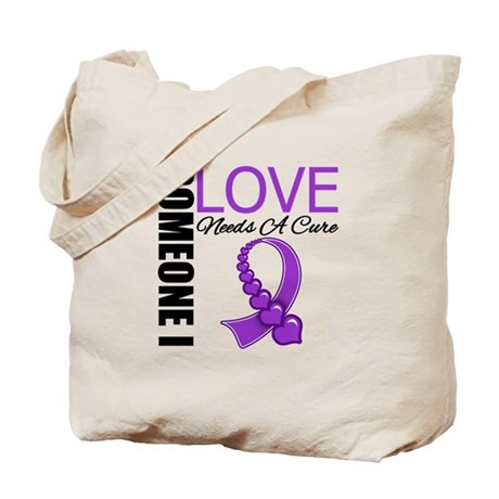 PurpleRibbon NeedsACure Tote Bag