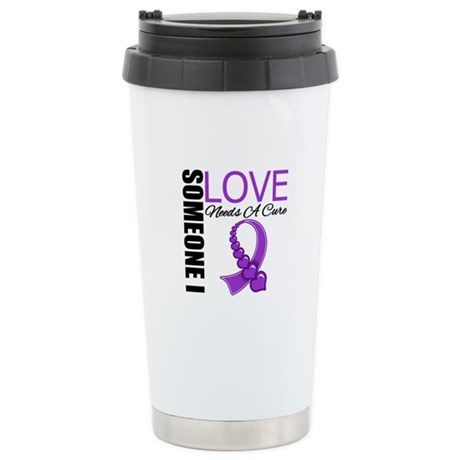 PurpleRibbon NeedsACure Ceramic Travel Mug