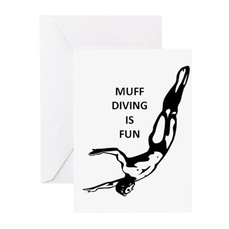 Muff Diving is Fun Greeting Cards (Pk of 20)