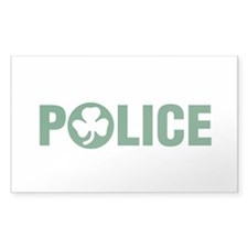 Irish Police Rectangle Decal