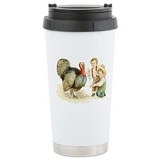 Antique Thanksgiving Ceramic Travel Mug