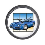 79-81 Trans Am Blue Wall Clock