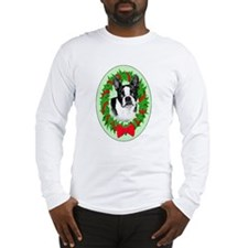 Boston Terrier christmas Long Sleeve T-Shirt