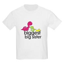 biggest big sister dinosaur shirt T-Shirt