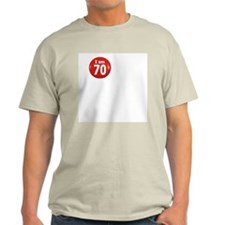 I am 70 Ash Grey T-Shirt