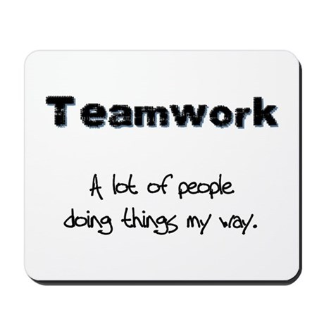 Teamwork - Black Mousepad