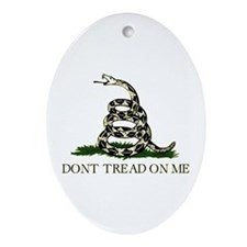 Gadsden Flag - Oval Ornament
