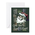 God Isn't Real Either! Greeting Cards (Pk of 20)