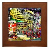 Broadway Nights - Framed Tile