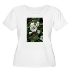 White Hollyhocks T-Shirt