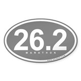 Marathon 26.2 Oval Decal
