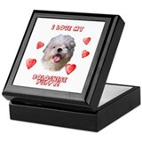 Bolognese puppy love Keepsake Box