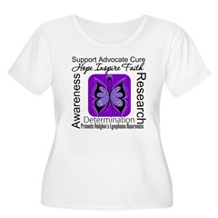 ButterflyHodgkinsLymphoma Women's Plus Size Scoop