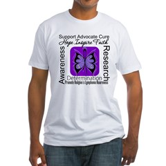 ButterflyHodgkinsLymphoma Fitted T-Shirt