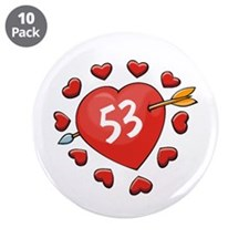 "53rd Valentine 3.5"" Button (10 pack)"