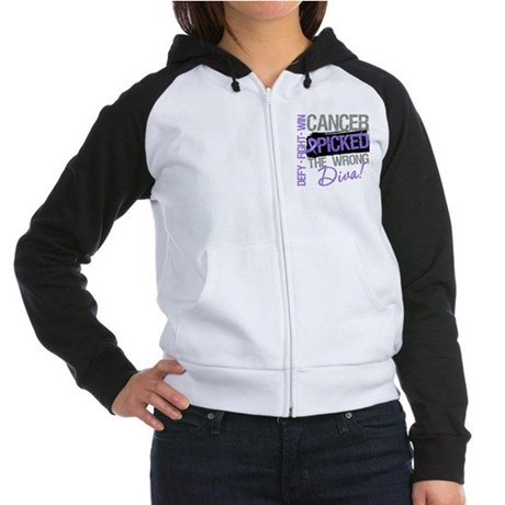WrongDivaHodgkinsDisease Women's Raglan Hoodie